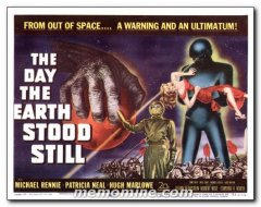 Day the Earth Stood Still Title Card from the Science Fiction 20th century classic