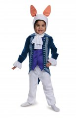White Rabbit Toddler Deluxe Costume Size 2T, 3T-4T, 4-6