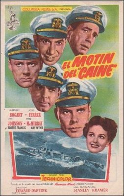 Caine Mutiny Humphrey Bogart Jose Ferrer Van Johnson Fred McMurray