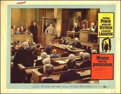 Witness for the Prosecution Marlene Dietrich Charles Laughton Tyrone Power