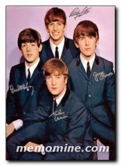 Beatles signed by 4