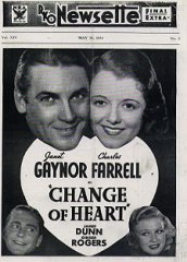 Change of Heart Janet Gaynor Charles Farrell