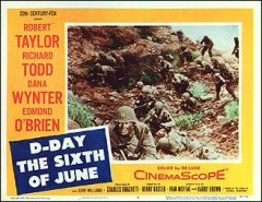 D-DAY THE SIXTH OF JUNE #3 from the 1956 movie. Staring Robert Taylor, Edmond O'Bria