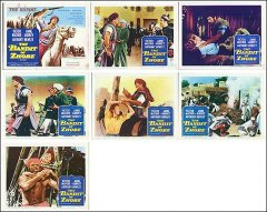 BANDIT OF ZHOBE 8 card set Victor Mature