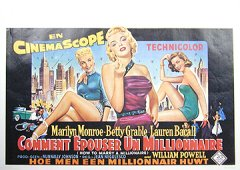How To Marry A Millionaire Marilyn Monroe Belg. 70'sR