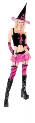 PLAYBOY Licensed Costume HIPSTER WITCH XS, S, M