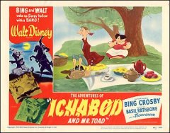 Adventures of Ichabod and Mr. Toad Bing Crosby Basil Rathbone Ichabod at picnic
