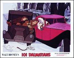 101 Dalmations Disney 1970's in cars