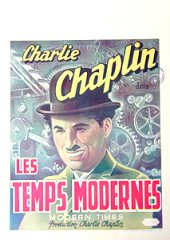 Modern Times Charles Chaplin stamp at side Belg.