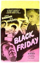 BLACK FRIDAY Boris Karloff, Bela Lugosi