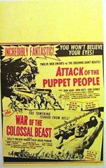 ATTACK OF THE PUPPET PEOPLE War of the Colossal Beast