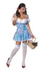 Holographic Sequin Dorothy Adult Sexy Costume XS, S, M