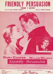 Frendly Persuasion Gary Cooper Anthony Perkins 1956