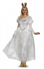 White Queen Adult Deluxe Costume Size S,M,L,XL