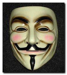 V for Vendetta Guy Fawkes mask as received at WonderCon 2006 purchased from Collector Mint Never Use
