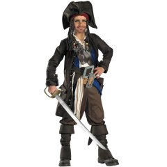 Disney Pirates Captain Jack Sparrow Prestige Premium Child Costume