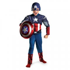 AVENGERS Captain America Movie Classic Muscle Child Costume