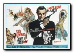 From Russia with Love British Quad style James Bond Connery