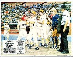 BAD NEWS BEARS IN BREAKING TRAINING 8 card set 1977