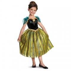 Frozen Anna Deluxe Coronation Gown Girls Costume