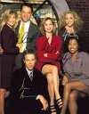 Ally MCBeal cast signed by all six