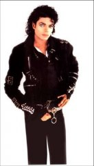 Michael Jackson BAD BLACK BUCKLE JACKET w/Straps Deluxe Adult Costume PRE-SALE