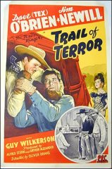 Trail of Terror Dave O'Brian Texas Rangers P.R.C. picture 1943 ORIGINAL LINEN BACKED 1SH
