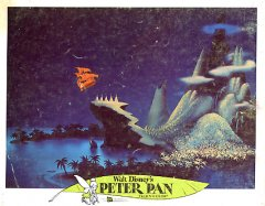Peter Pan Disney 1969 flying ship pictured #8 G card wear