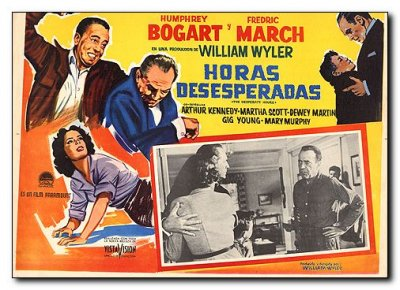 Desperate Hours Humphery Bogart Fredric March Maria Scott Gig Young