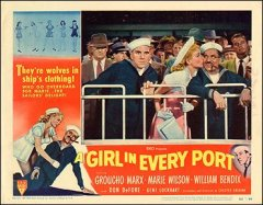 Girl in Every Port Groucho Marx William Bendex Marie Wilson all pictured