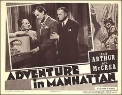 Adventure in Manhattan Jean Arthur Joel McCrea