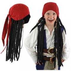 Disney Pirates of the Caribbean Jack Sparrow SCARF with Dreads