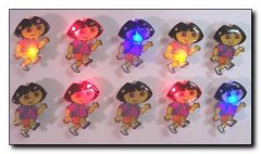 Dora the Explorer Flashing LED lapel pins multi-lighted one color