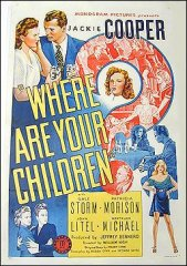 Where are your Children Frankie Cooper 1944 ORIGINAL LINEN BACKED 1SH