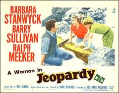 Jeopardy Barbara Stanwyck Barry Sullivan pictured