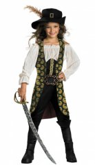 Disney Pirates of the Caribbean Angelica Child DELUXE Costume