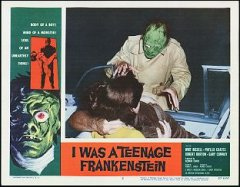 I WAS A TEENAGE FRANKENSTEIN 1957 # 2 monster card