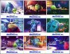 Monsters Inc. Disney 8 card set 2001
