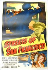 Streets of San Francisco Crime Republic Picture 1949 ORIGINAL LINEN BACKED 1SH