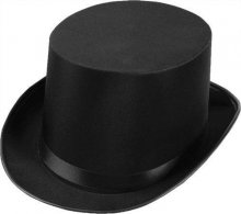Top Hat Satin Adult Black