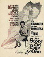 STORY ON PAGE ONE Rita Hayworth, Anthony Franciosa