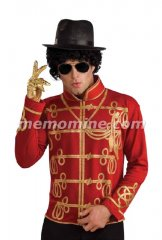 Michael Jackson RED MILITARY JACKET Adult Costume PRE-SALE