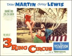 3 Ring Circus Dean Martin Jerry Jewis Zsa Zsa Gabor Joanne Dru all pictured
