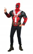 DEADPOOL Adult Muscle Costume TOP Size STD, XL