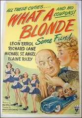 What a Blonde 1945 ORIGINAL LINEN BACKED 1SH