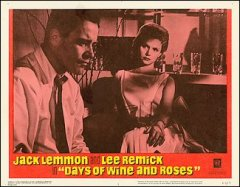 DAYS OF WINE AND ROSES 8 card set from the 1963 movie. Staring Jack Lemmon, Lee Remick