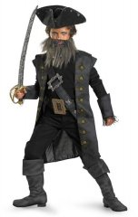 Disney Pirates of the Caribbean Blackbeard Child Deluxe Costume