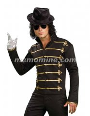 Michael Jackson BLACK MILITARY JACKET Adult Costume *IN STOCK*