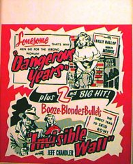 DANGEROUS YEARS / INVISIBLE WALL Marilyn Monroe First Picture