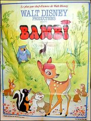 Bambi French Poster Disney approx 46 x 60